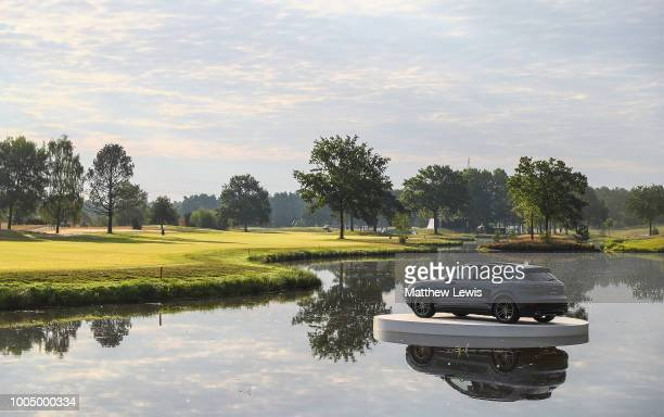 A general view looking back down the 18th hole during a practice round ahead of the Porsche European Open at Green Eagle Golf Course on July 25 2018...