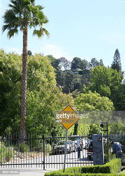 A general view near the area of Brad Pitt and Angelina JoliePitt's house is located in Los Feliz California on September 20 2016 Angelina Jolie has...