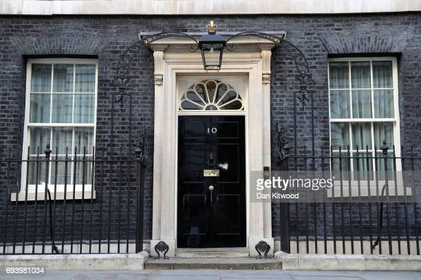 General view of 10 Downing Street on June 9, 2017 in London, England. After a snap election was called by Prime Minister Theresa May the United...