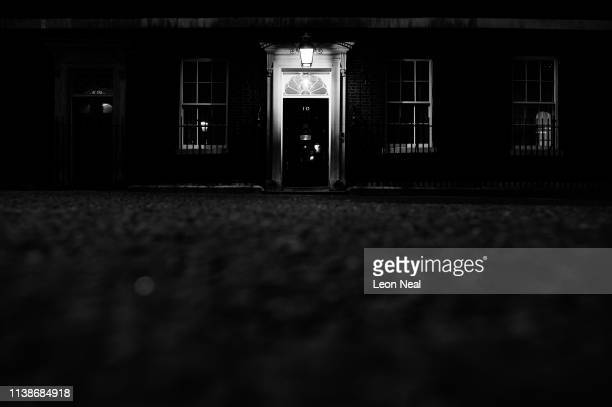 General view of 10 Downing Street on March 27 2019 in London England