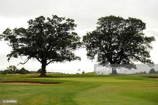 General view of 16th green during the PGA Super 60's Tournament at the De Vere Belton Woods Golf Club on September 12 2012 in Grantham England