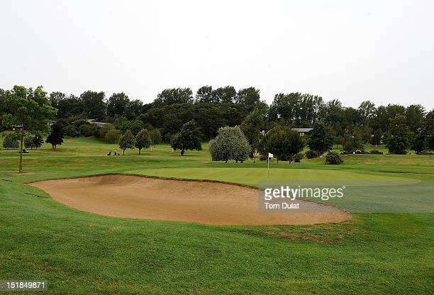 General view of 1st green during the PGA Super 60's Tournament at the De Vere Belton Woods Golf Club on September 12 2012 in Grantham England