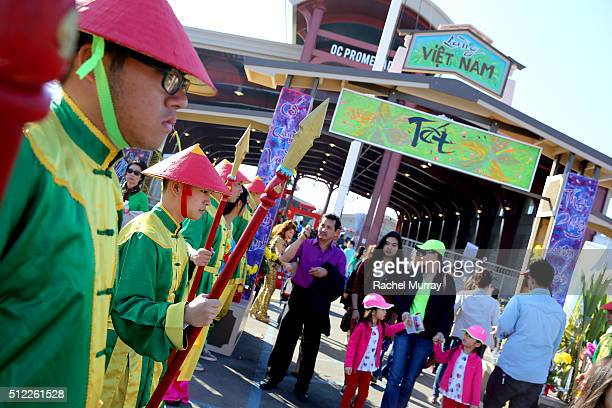 A general view of 2016 Tet Festival atmosphere as Actress Philanthropist KieuChinh CND CoFounder Style Director Jan Arnold and Actress Humanitarian...