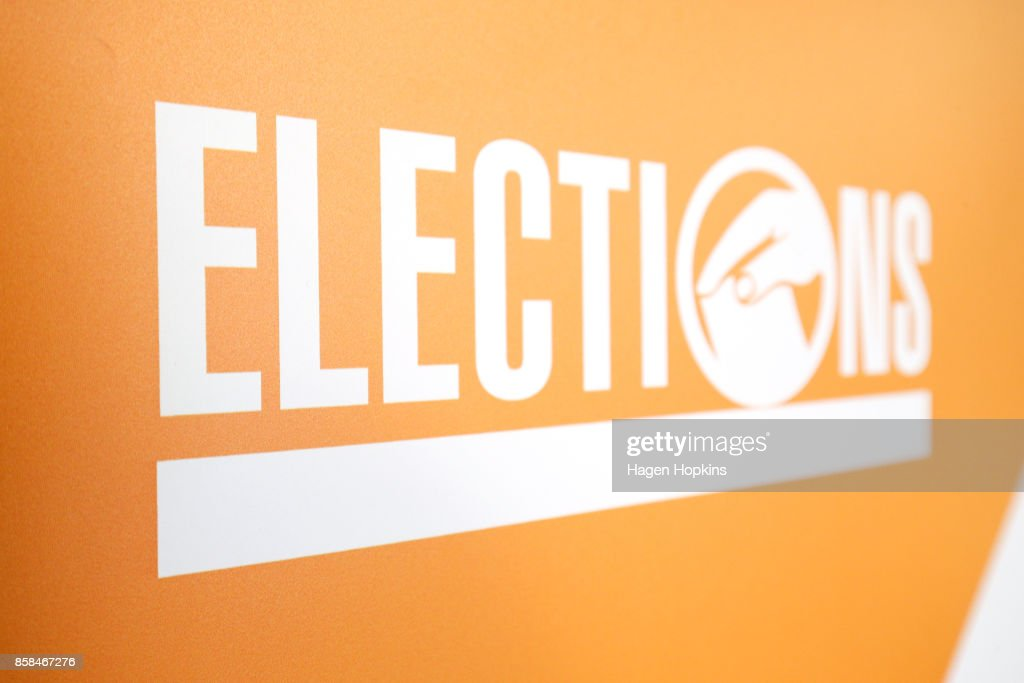 A general view of 2017 election branding during a media briefing at the Electoral Commission on October 7, 2017 in Wellington, New Zealand. The general election was held on Saturday 23 September, but with results too close to call, no outright winner between National's Bill English and Labour's Jacinda Ardern was able to be announced.