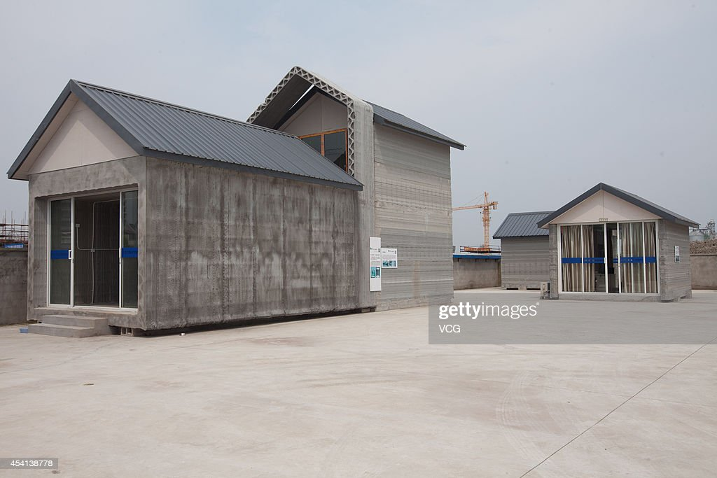 A general view of 3D printed house is