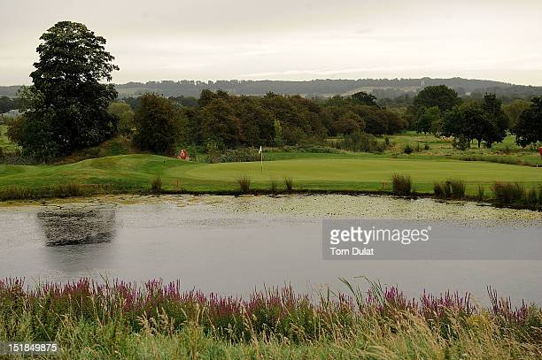 General view of 8th green during the PGA Super 60's Tournament at the De Vere Belton Woods Golf Club on September 12 2012 in Grantham England