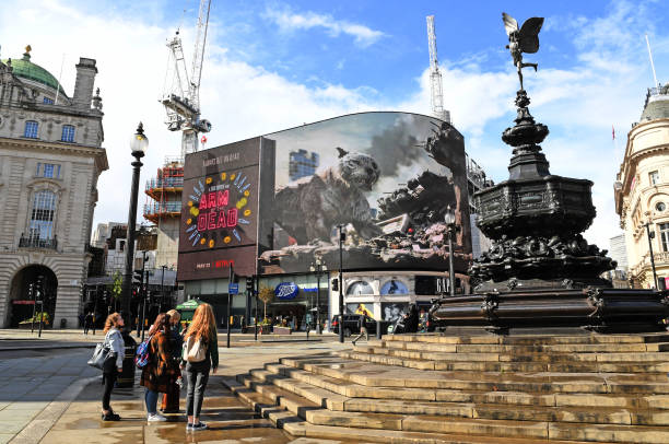 """GBR: """"Army Of The Dead"""" On Piccadilly Lights"""