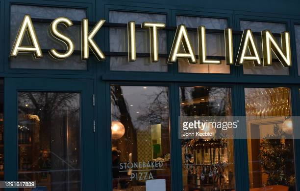 General view of a Ask Italian restaurant on December 15, 2020 in Chelmsford, England.