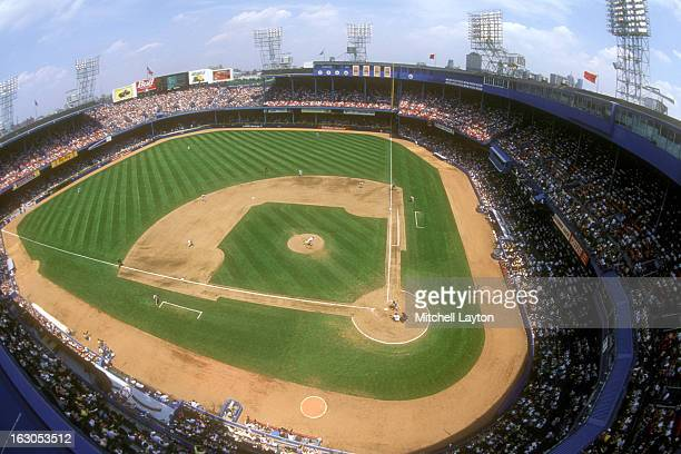 General view of a baseball game between the Detroit Tigers and the St Louis Cardinals on June 7 1999 at Tigers Stadium in Detroit Michigan The Tigers...