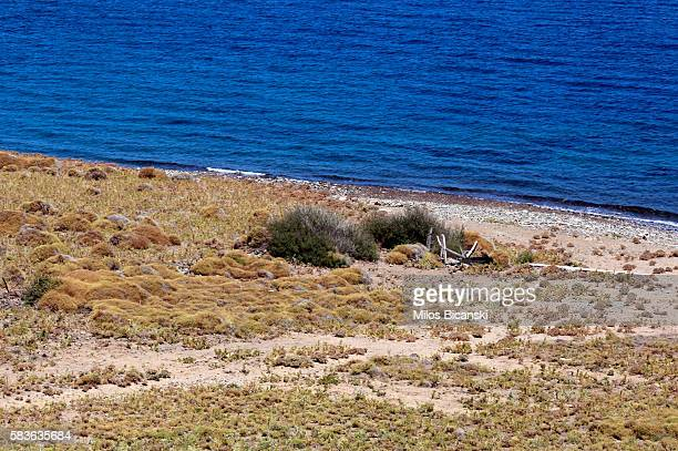 A general view of a beach on July 21 2016 in Mytilene Greece Last year dozens of rafts and boats made the journey from Turkey to Lesbos each day as...