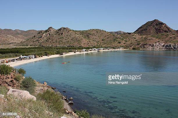 A general view of a beach on October 26 2008 near Mulege Baja California Mexico Baja California is the second longest peninsula in the world and a...