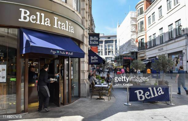 A general view of a Bella Itali restaurant in Argyll Street on May 13 2019 in London England