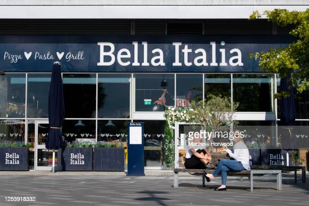 General view of a Bella Italia restaurant at Abbeywood Retail Park on July 02, 2020 in Bristol, United Kingdom. The Casual Dining Group, which owns...