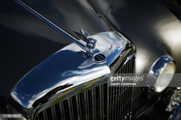 General view of a Bentley car during the Salon Privé Ladies' Day at Blenheim Palace on September 24, 2020 in Woodstock, England. 21 new luxury car...