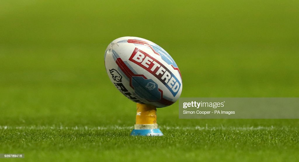 A general view of a Betfred branded rugby ball
