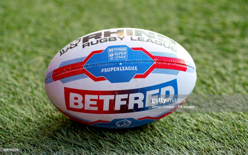 A general view of a Betfred branded Super League match ball