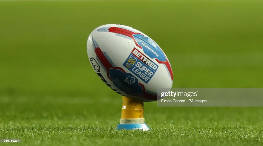 A general view of a Betfred Super League branded rugby ball