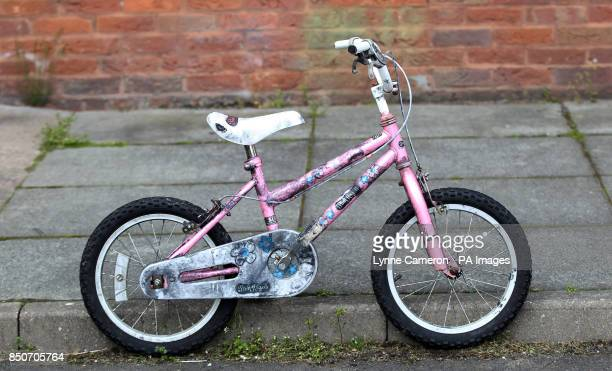 A general view of a bike belonging to April Jones' friend in Mold north Wales as the jury has today viewed a car belonging to murder suspect Mark...