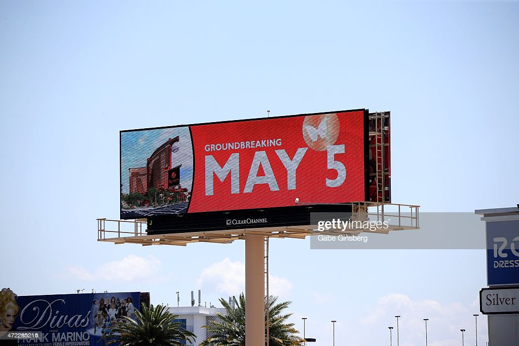 A general view of a billboard during the Genting Group's ceremonial groundbreaking for Resorts World Las Vegas on May 5, 2015 in Las Vegas, Nevada. The USD 4 billion property on the Las Vegas Strip is expected to open in 2018 on the site of the former Stardust Resort & Casino.