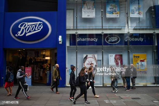 General view of a Boots store on June 5, 2019 in London, England. The high street retailer, who employ over 120,000 people, have announced that up to...