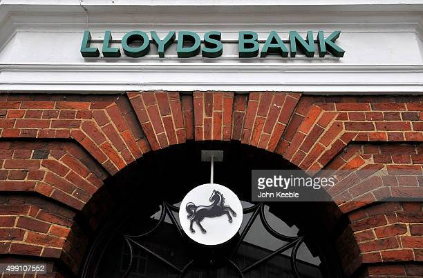 A general view of a branch of Lloyds Bank in Camden Town on November 28 2015 in London England
