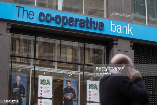 A general view of a branch of the Cooperative bank at Cornhill on April 5 2019 in London England