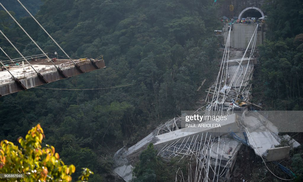 Bridge Collapses In Central Colombia