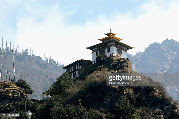 A general view of a building near Tiger's Nest on the 15th April 2016 in Thimphu Bhutan The Royal couple are visiting Bhutan as part of a week long...