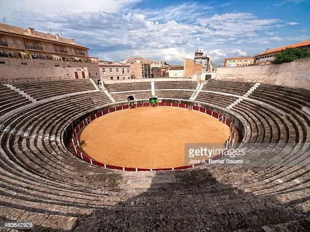 CONTENT] General view of a bullring carved in rock the oldest of Valencia Bocairent