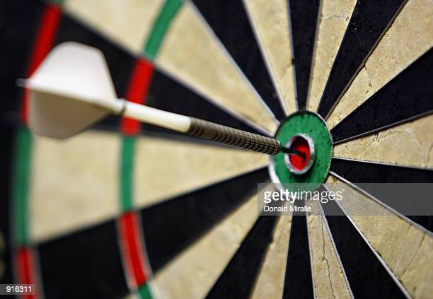 A general view of a bullseye during the Desert Classic Darts Championships at the MGM Grand Hotel and Casino in Las Vegas Nevada on July 4 2002