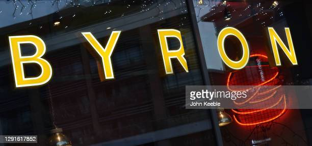 General view of a BYRON burger restaurant on December 15, 2020 in Chelmsford, England.