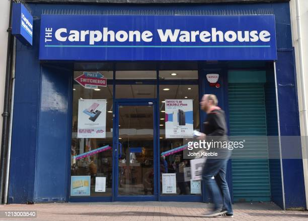 A general view of a Carphone Warehouse shop on the high street on March 17 2020 in Southend on Sea England The phone retailer has announced the...