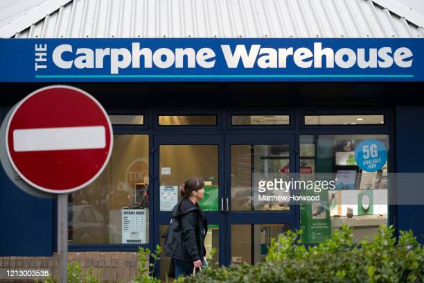 A general view of a Carphone Warehouse store on March 17 2020 in Cardiff Wales The phone retailer has announced the closure of all its standalone...
