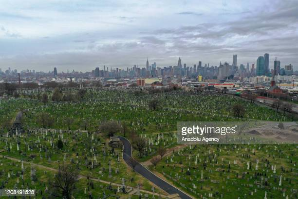 A general view of a cemetery in New York City during coronavirus pandemic in New York City on March 28 2020 US has warned the citizens in New York...