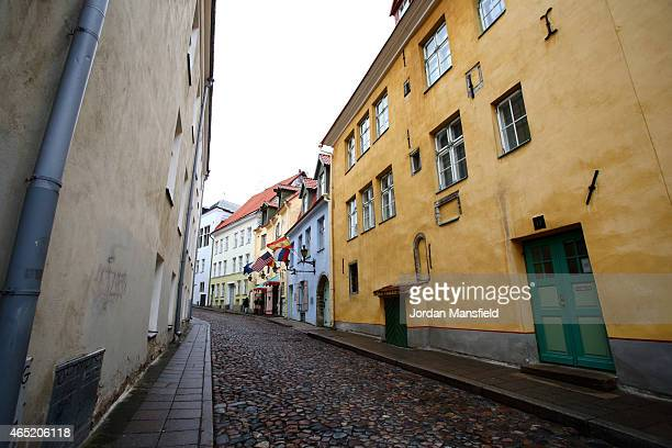 A general view of a city street on March 2 2015 in Tallinn Estonia