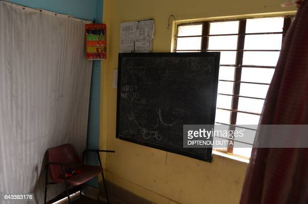 A general view of a classroom in the 'Ashray Home' for children in Jalpaiguri on February 21 the scene of an alleged child trafficking scandal in the...