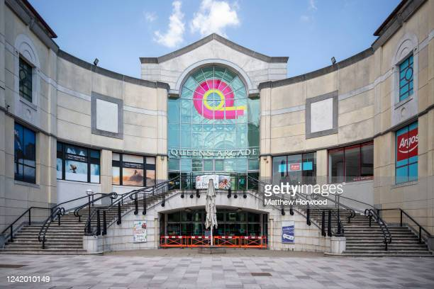 A general view of a closed Queen's Arcade shopping centre on June 2 2020 in Cardiff United Kingdom The Welsh government has further relaxed COVID19...