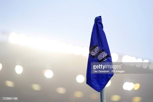 General view of a corner flag before the Sky Bet Championship match at St Andrew's Trillion Trophy Stadium, Birmingham.