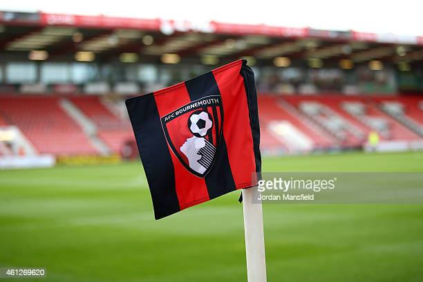 A general view of a cornerflag ahead of the Sky Bet Championship match between AFC Bournemouth and Norwich City at Goldsands Stadium on January 10...