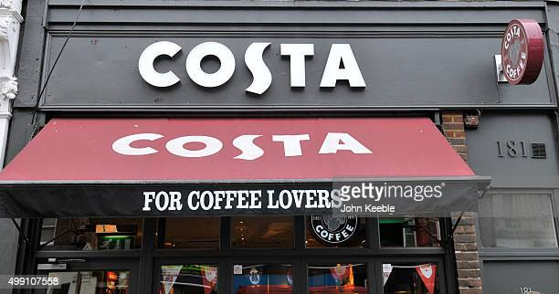 A general view of a Costa Coffee shop in Camden Town on November 28 2015 in London England