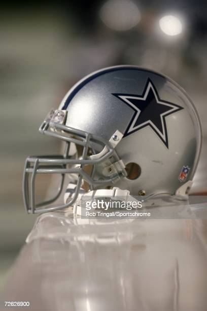 General view of a Cowboys helmet on the bench during a game between the Dallas Cowboys and the Washington Redskins on November 5, 2006 at FedEx Field...