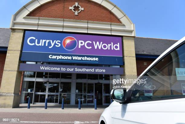 A general view of a Currys electrical retail PC World and Carphone Warehouse outlet store on July 3 2018 in Southend on Sea England