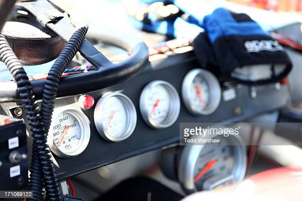 A general view of a dashboard during practice for the NASCAR KN Pro Series West Carneros 200 at Sonoma Raceway on June 21 2013 in Sonoma California