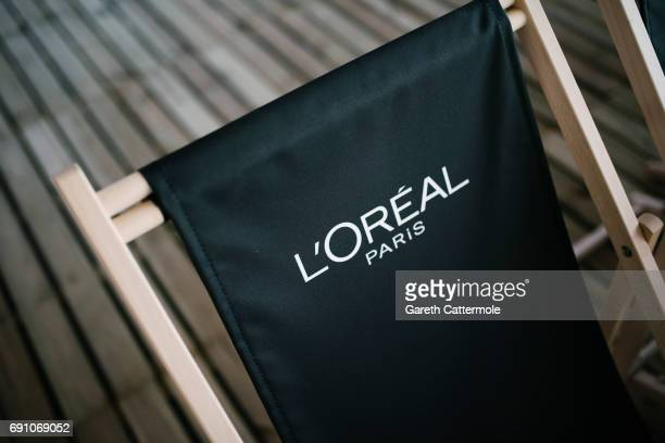 A general view of a deckchair during the 'Maps To The Stars' screening at the L'Oreal Paris cinema club during the 70th annual Cannes Film Festival...