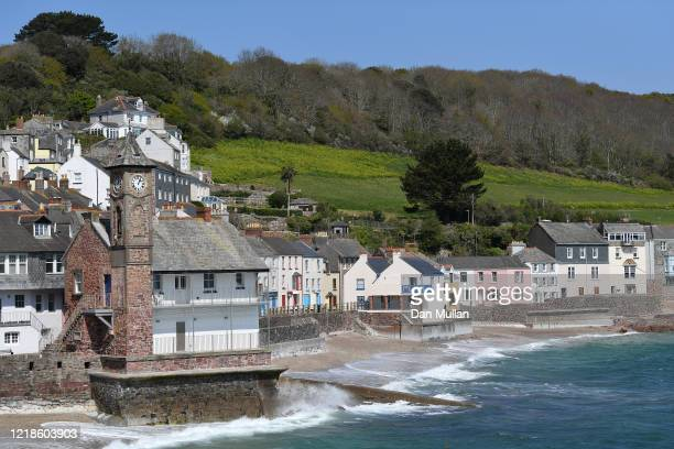 A general view of a deserted Kingsand village and beach as lockdown continues on April 13 2020 in Kingsand England Over 80000 people across the UK...
