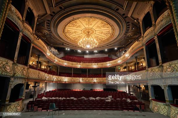 General view of a deserted Old Vic Theatre, the current home of 'LUNGS' directed by Matthew Warchus on June 9, 2020 in London, England. London's...