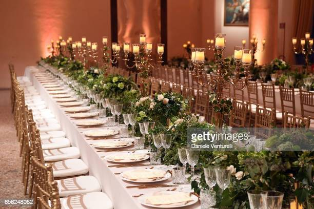 General view of a dinner for 'Damiani Un Secolo Di Eccellenza' at Palazzo Reale on March 21 2017 in Milan Italy