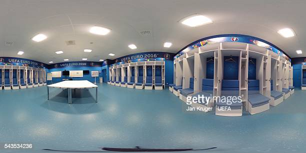 A general view of a dressing room at Stade Velodrome on June 8 2016 in Marseille France