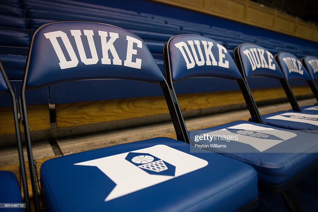 Awesome A General View Of A Duke Blue Devils Bench Seat And Logo Gmtry Best Dining Table And Chair Ideas Images Gmtryco