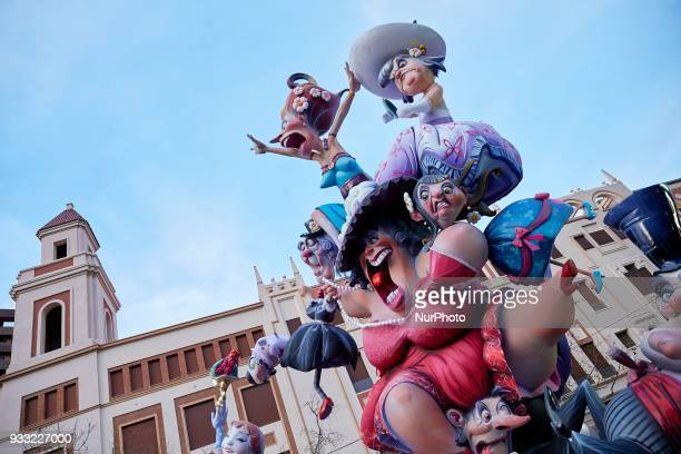 General view of a Falla during Las Fallas Festival on March 17 2018 in Valencia Spain The Fallas is Valencias most international festival which runs...